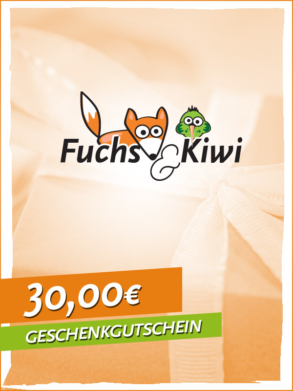 gutschein 30 fuchs kiwi. Black Bedroom Furniture Sets. Home Design Ideas