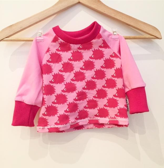 langarmshirt mit igel pink. Black Bedroom Furniture Sets. Home Design Ideas