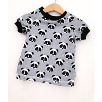 T-Shirt Panda grau meliert