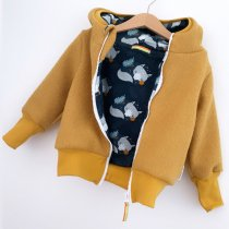 Walkjacke senfgelb mit Sleepy Fox