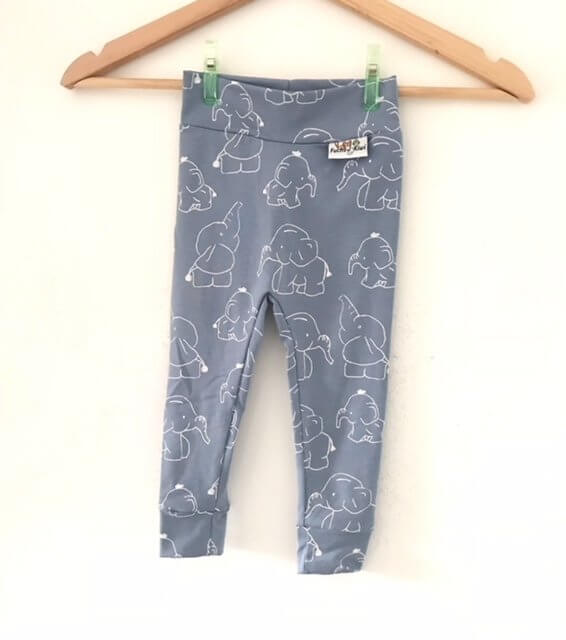 Leggings Elefanten rauchblau/weiss