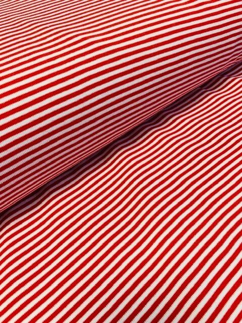 Jersey Streifen rot/weiss