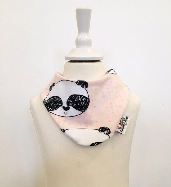 Halstuch mit Panda rosa