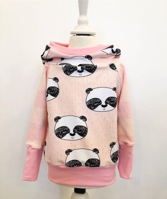 Hoodie mit Panda rosa