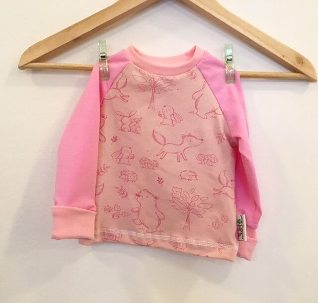 Langarmshirt Waldtiere rosa