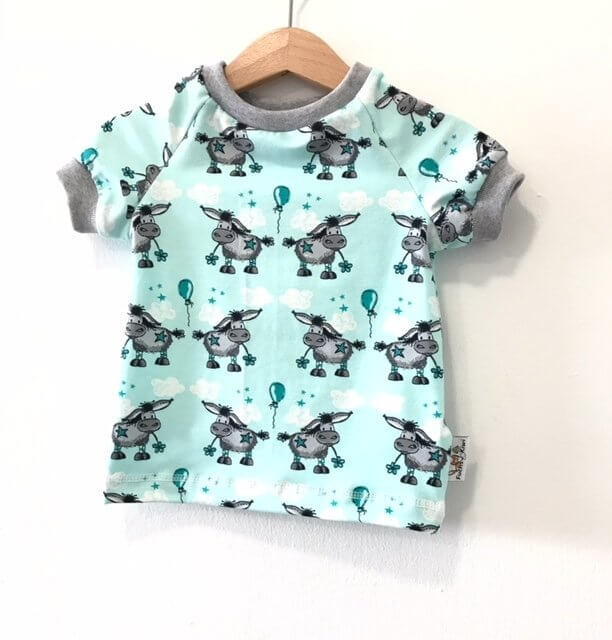 T-Shirt Esel mint