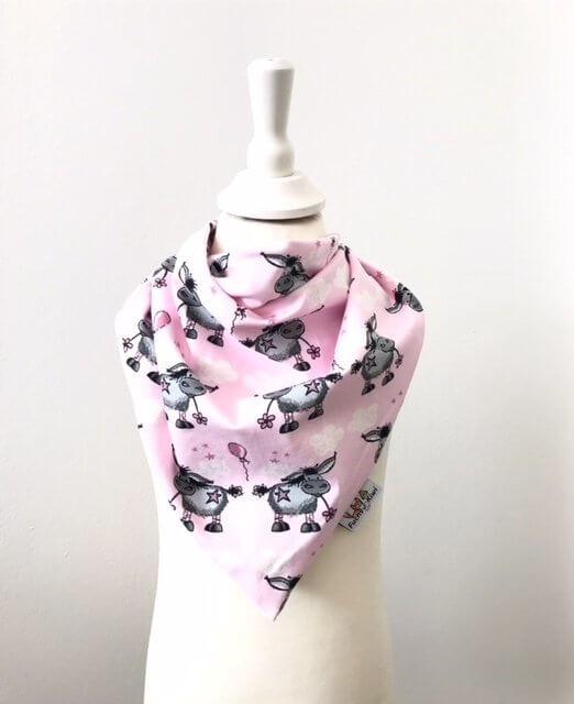 Halstuch zum Binden Esel rosa