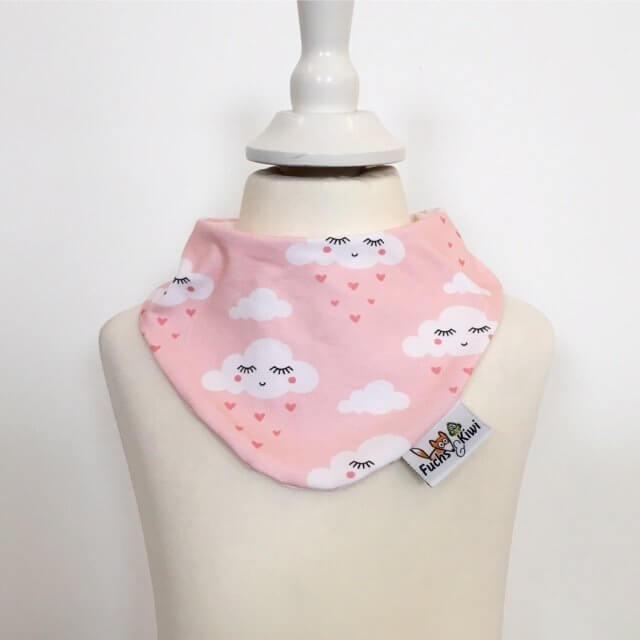 Halstuch mit Wolken & Herzen rosa