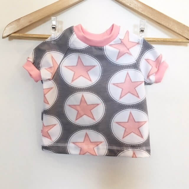 T-Shirt mit Sternen rosa/grau
