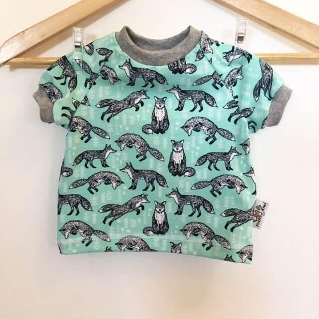 T-Shirt mit Füchsen mint