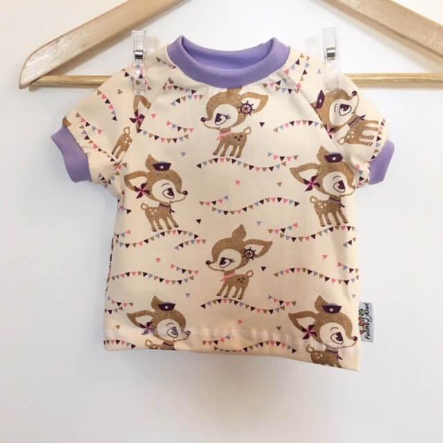 T-Shirt mit Reh gold