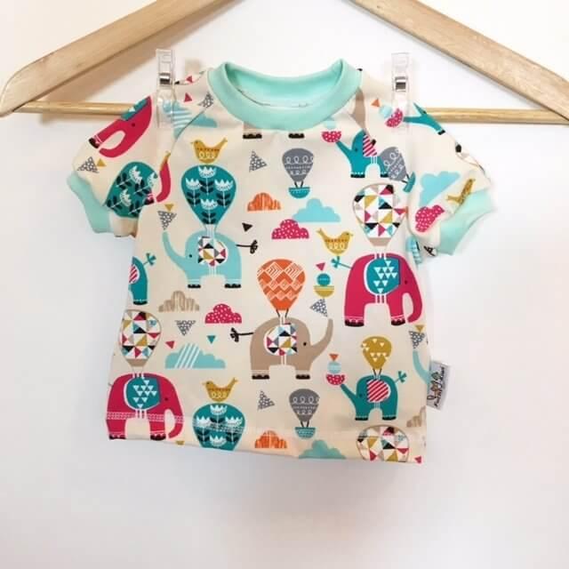 T-Shirt mit Elefanten & Ballon