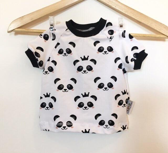 T-Shirt Panda schwarz/weiss