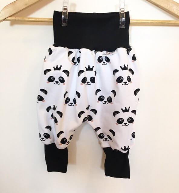 Pumphose mit Panda schwarz/weiss