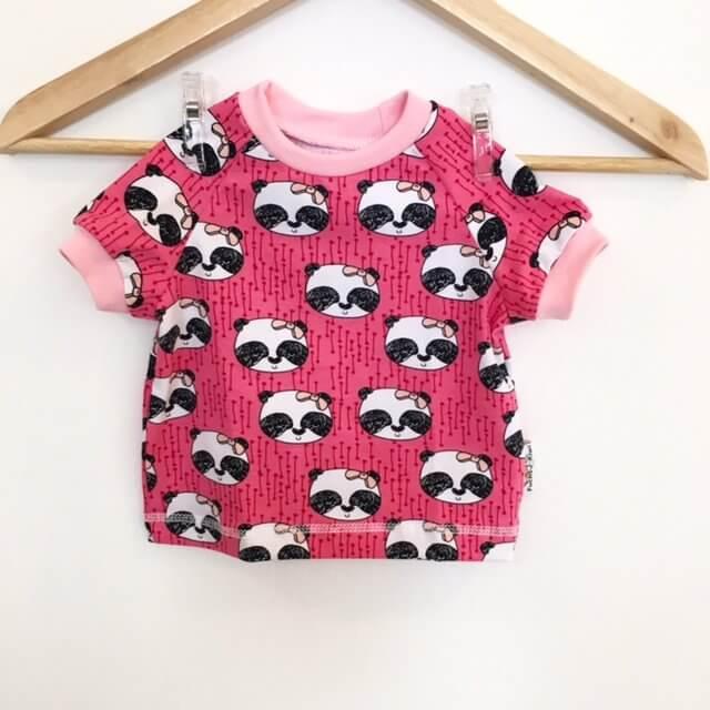 T-Shirt mit Panda pink