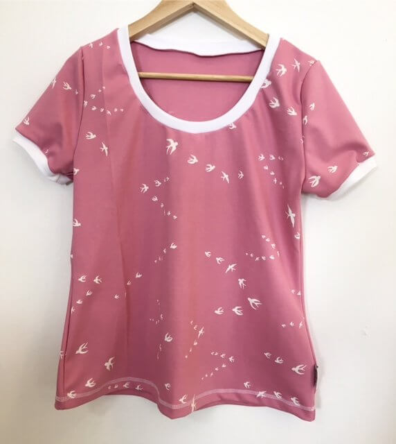 T-Shirt für Mama mit Schwalben altrosa