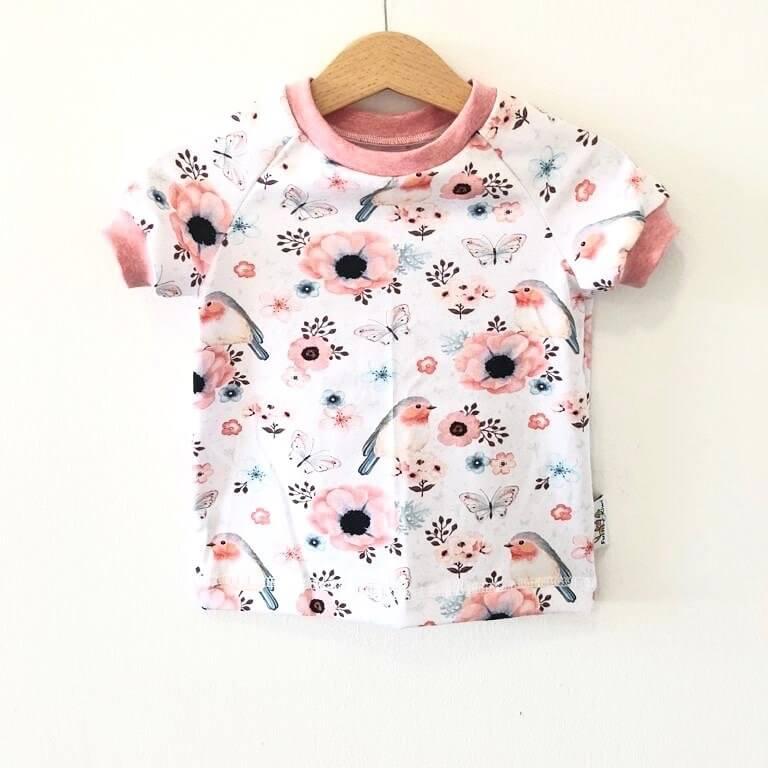 T-Shirt mit Vögelchen rosa
