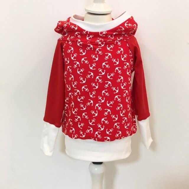 Hoodie für Mama mit Anker rot