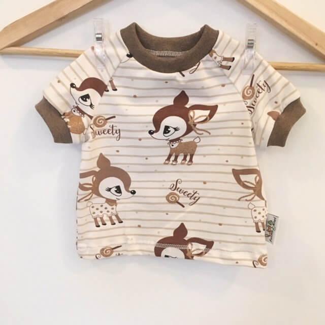 T-Shirt mit Reh Glitzer