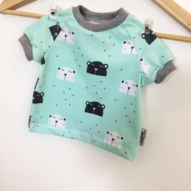 T-Shirt mit Bär mint