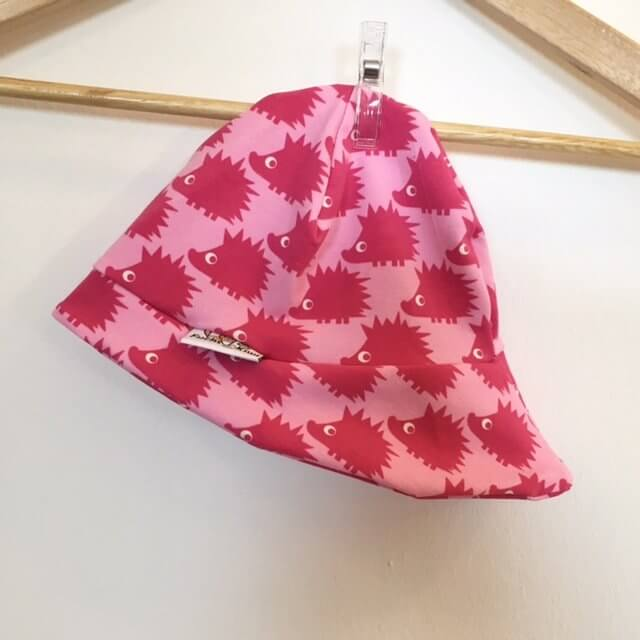 Sommermütze mit Igel pink