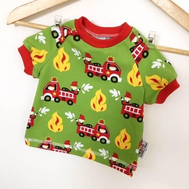 T-Shirt mit Feuerwehr grün