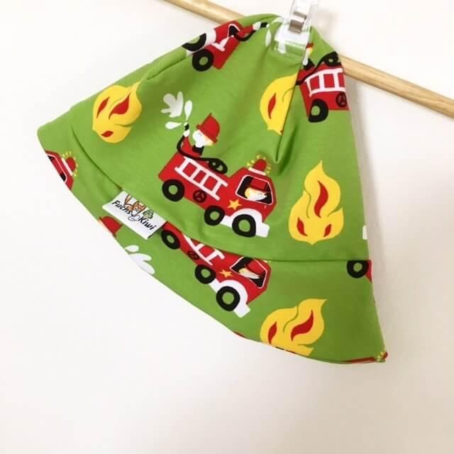 Sommermütze mit Feuerwehr grün