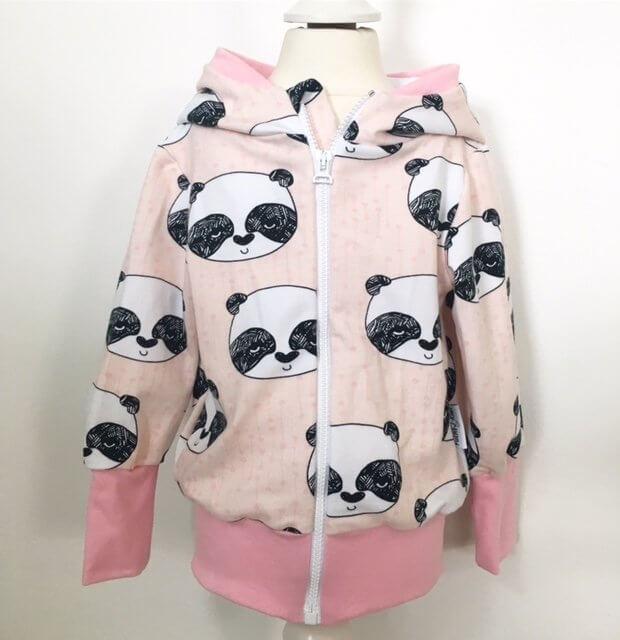 Sweatjacke mit Panda rosa