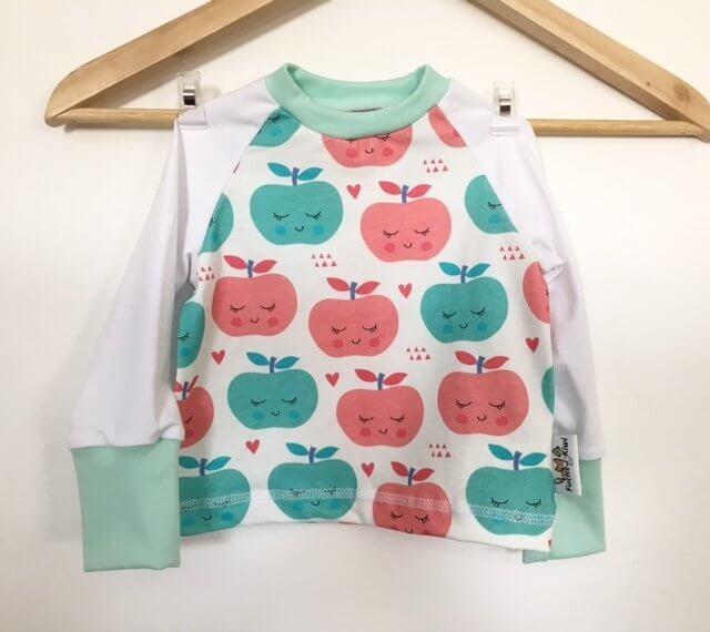Langarmshirt Äpfel mit Gesicht