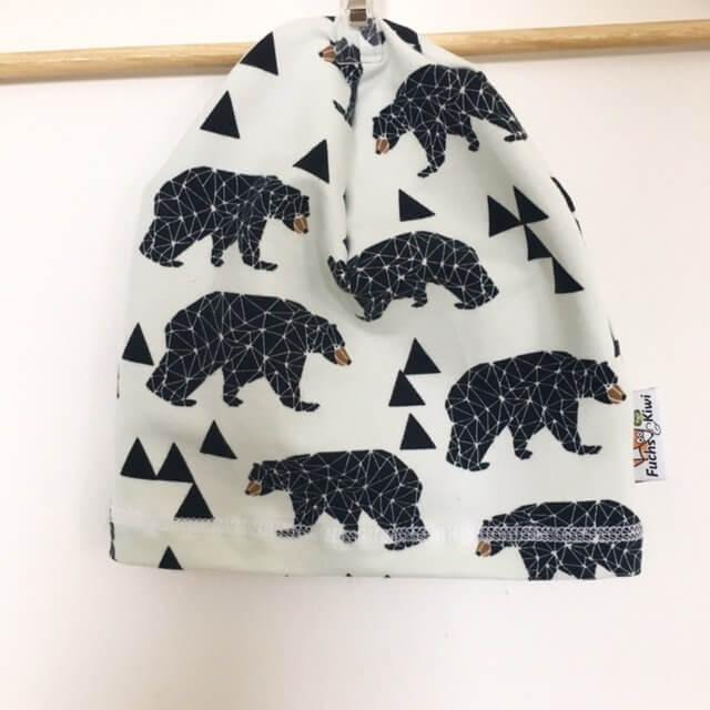 Beanie mit Bären geo