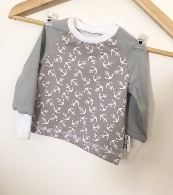 Langarmshirt Anker grau