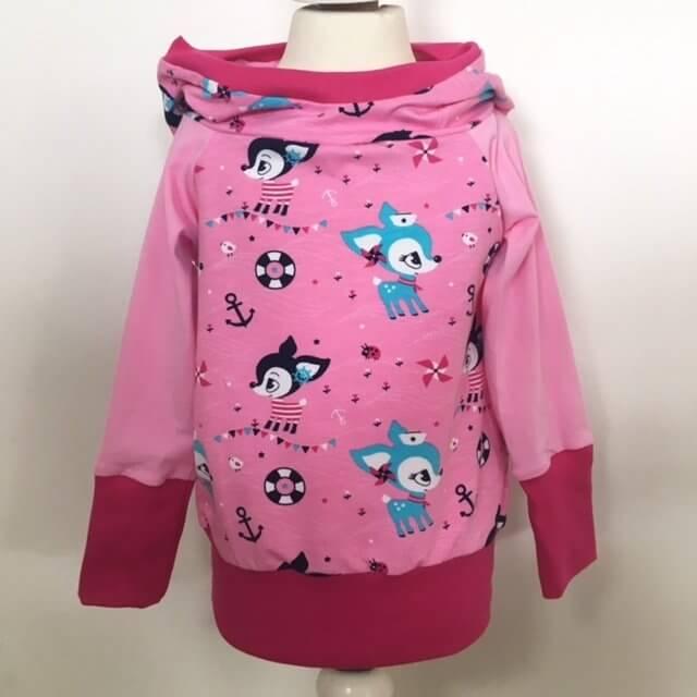 Hoodie Reh pink