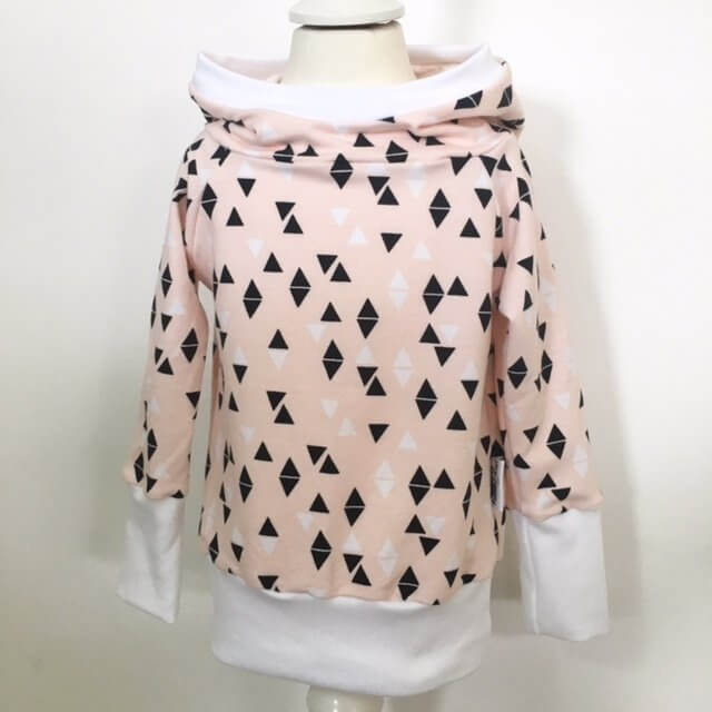 Hoodie Triangles rosa