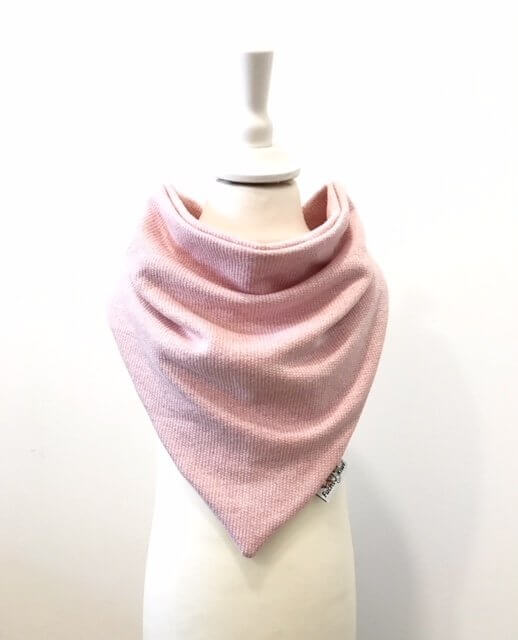 Halstuch zum Binden Strick rosa