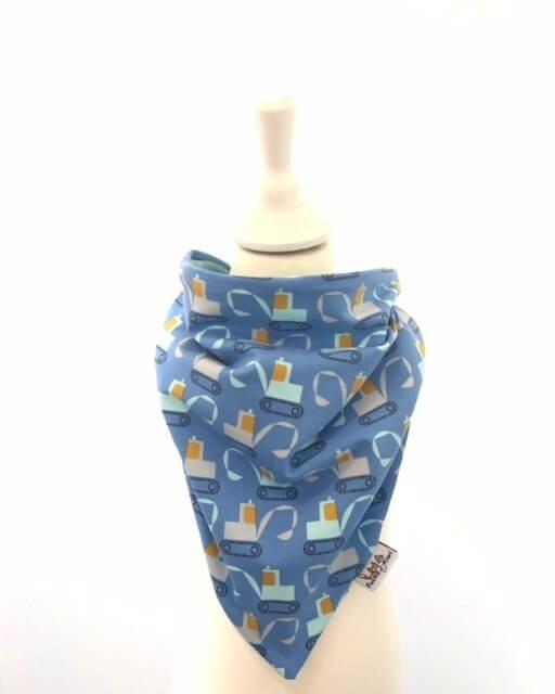 Halstuch zum Binden Bagger blau
