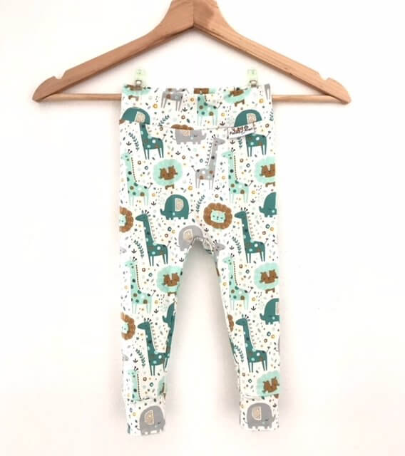 Leggings Dschungel mint