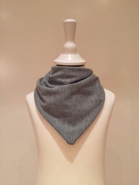 Halstuch zum Binden grau