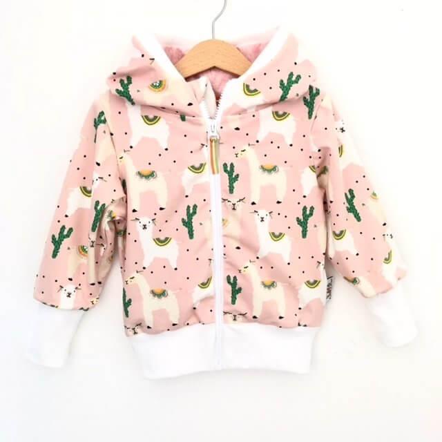 Sweatjacke Lama rosa