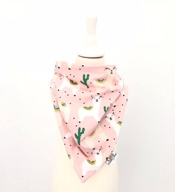 Halstuch zum Binden Lama rosa