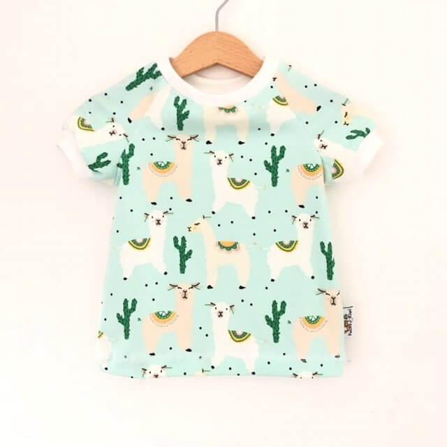 T-Shirt Lama mint