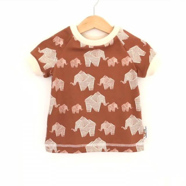 T-Shirt Elefanten braun