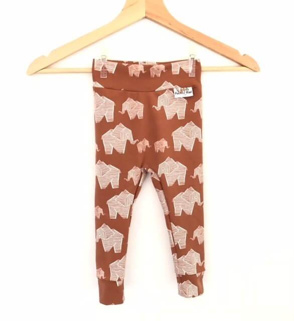 Leggings Elefanten braun
