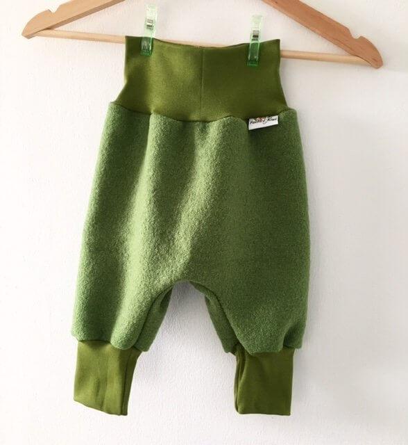 Pumphose aus Walk Grün
