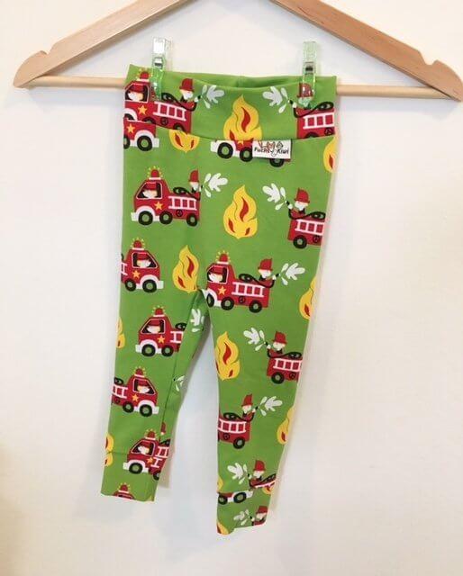 Leggings mit Feuerwehr grün
