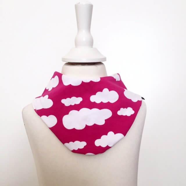 Halstuch mit Wolken pink