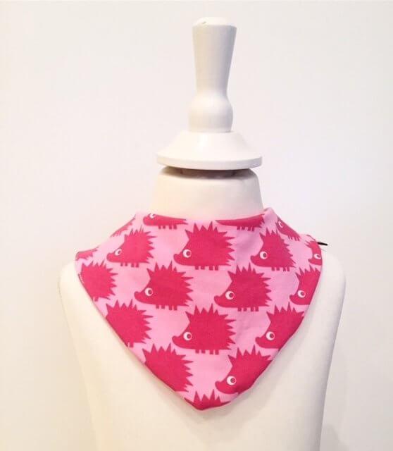 Halstuch mit Igel pink