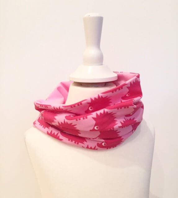 Loop mit Igel pink