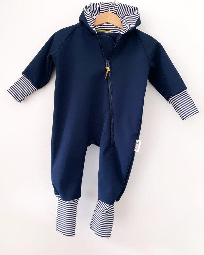 Softshelloverall dunkelblau