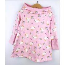 Hoodiekleid Einhörner rosa