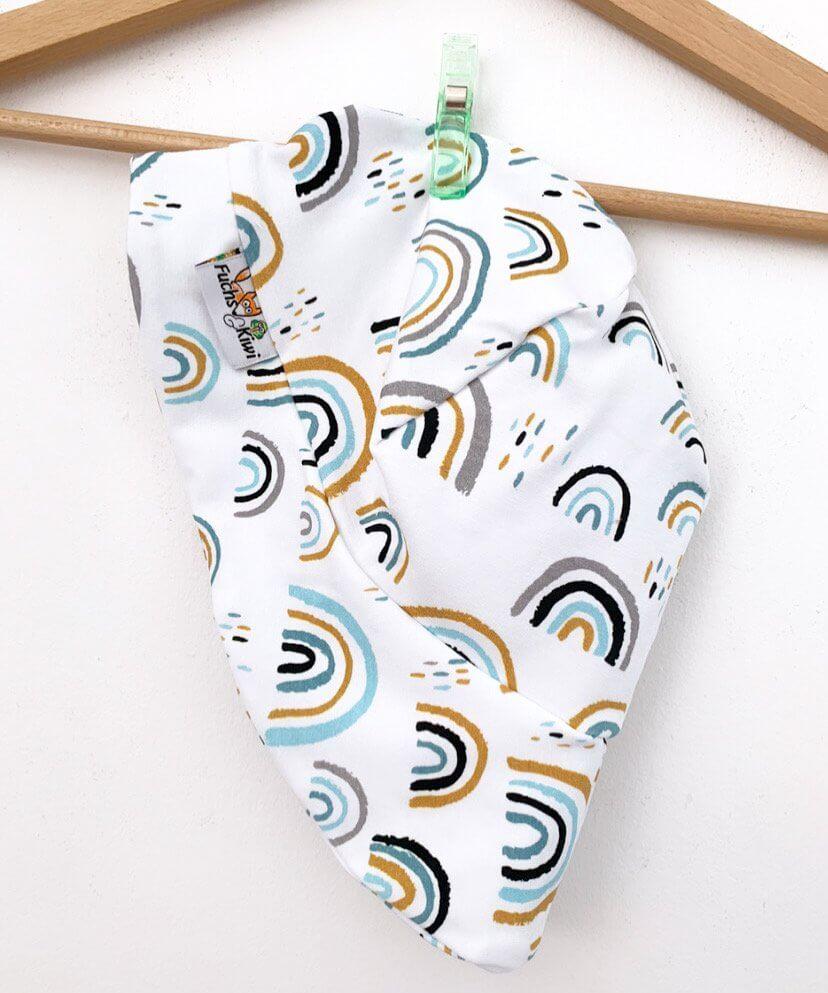 Sommermütze Regenbogen mint